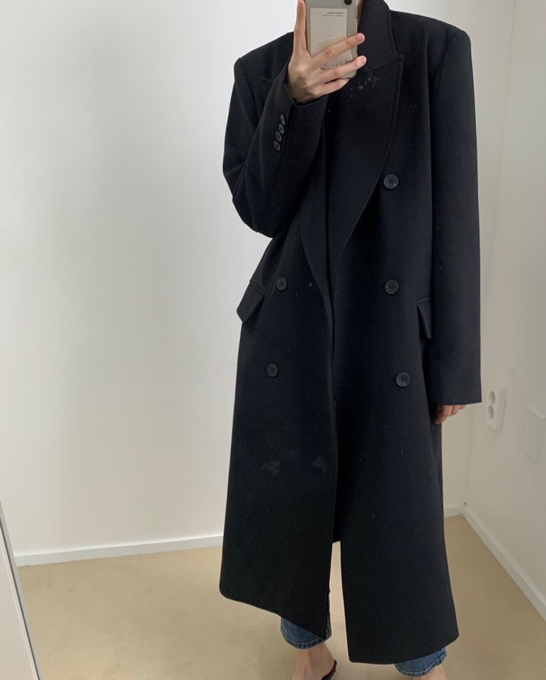 Double long coat
